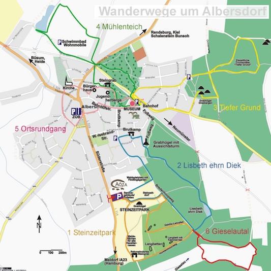 Hotel Bess Albersdorf | Wanderwege in und um Albersdorf | © Ernst Wilhelm Ramundt als ein Projekt von OpenStreetMap | Anklicken öffnet die PDF der Wanderkarte mit Wegbeschreibungen in einem neuen Fenster.